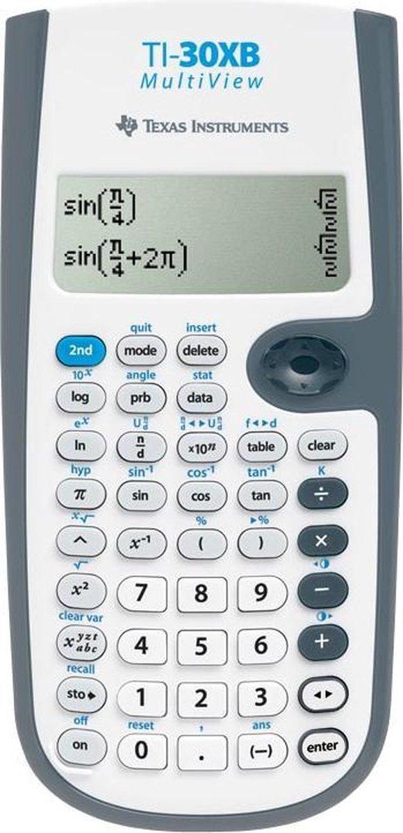 2x Texas wetenschappelijke rekenmachine TI-30XB Multiview, werkt op batterijen