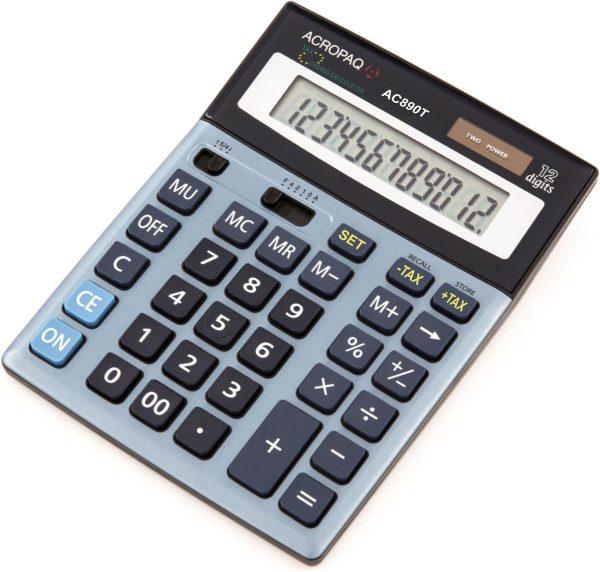 ACROPAQ AC890T - Bureau rekenmachine met groot kantelbaar scherm