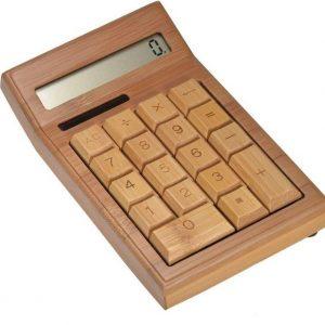 Bamboe Houten Rekenmachine Calculator