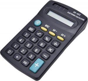 Bureaurekenmachine Zwart - Met Zonne-Paneel - Zakrekenmachine