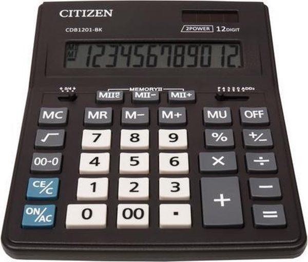 Calculator Citizen CDB1201 desktop Business Line, zwart