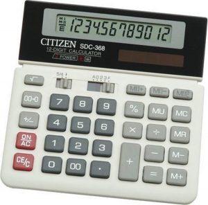 Calculator Citizen desktop Business Line wit/zwart CI-SDC368
