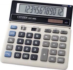 Calculator Citizen desktop Business Line wit/zwart CI-SDC868L