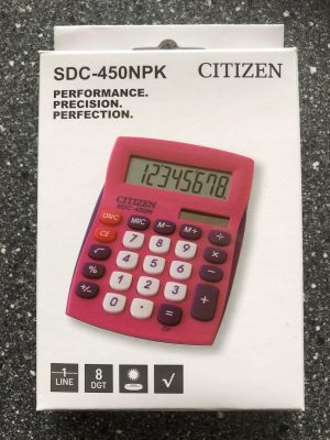 Calculator desktop Citizen Color Line roze CI-SDC450NPK