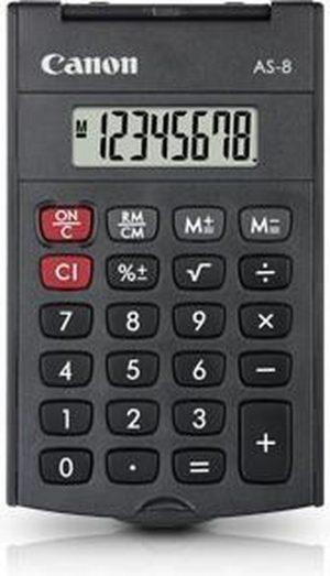 Canon AS-8 Pocket Rekenmachine met display Grijs