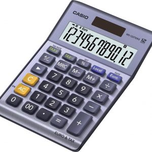 Casio Calculator MS 120 TER II, silver, table
