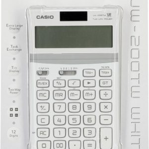 Casio JW-200TW-WE - Bureaurekenmachine / Wit