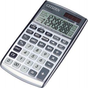 Citizen CPC210 | Zakelijke Zakrekenmachine | 2-lijnige display |BTW en Valuta functie |20 cijfers | Zilver