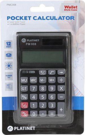 Platinet PMC008_A Pocket Basisrekenmachine Grijs calculator