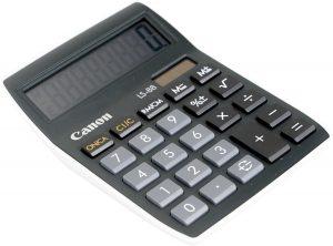 Rekenmachine - Canon LS 88 - Zwart - Zonne-energie