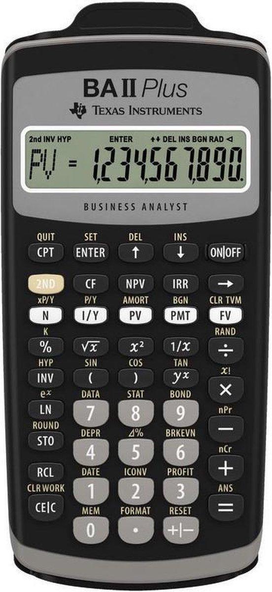 Texas Instruments BAII PLUS - Wetenschappelijke Rekenmachines