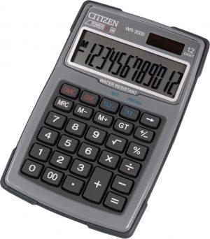 WR3000-GY - Outdoor Desktop Calculator | Grijs | 12 cijfers