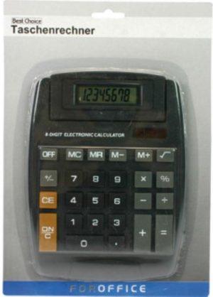 Best Choice - rekenmachine - calculatior - 8digit - op zonne-energie
