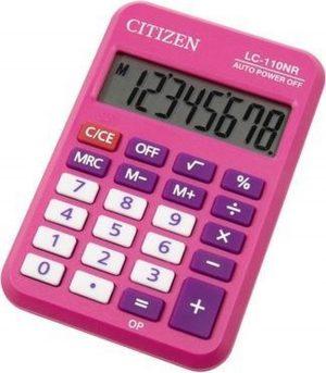 Calculator pocket Citizen Business Line roze CI-LC110NR-PK