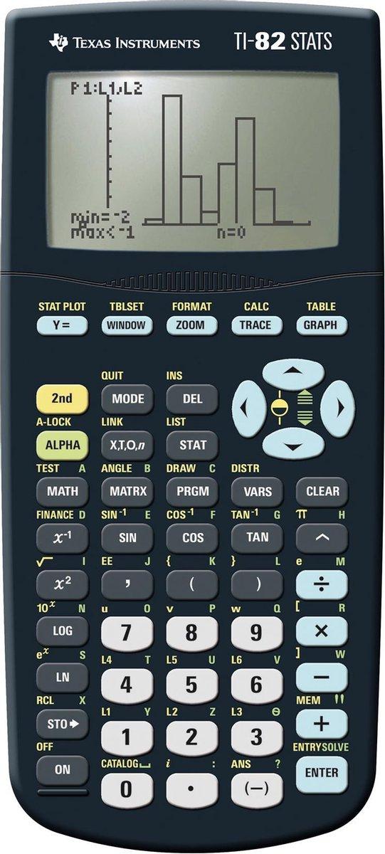 Texas Instruments TI-82 Stats Calculator - Grafisch Display - incl. 4x AAA Batterijen