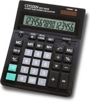 Calculator Citizen desktop Business Line zwart 16 cijferig display! CI-SDC664S