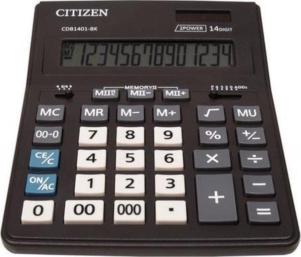 Calculator destop Citizen CDB1401-BK Black