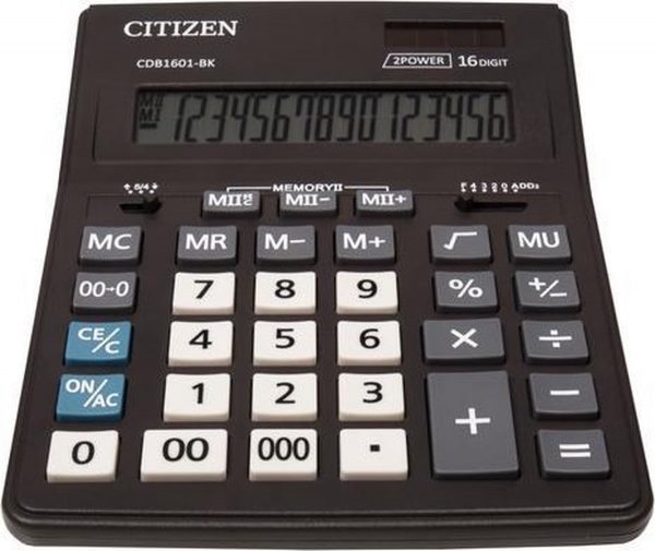 Calculator destop Citizen CDB1601-BK Black