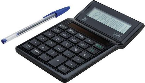 Staples ECO E23 Bureaurekenmachine, 12-Cijferig, Zwart