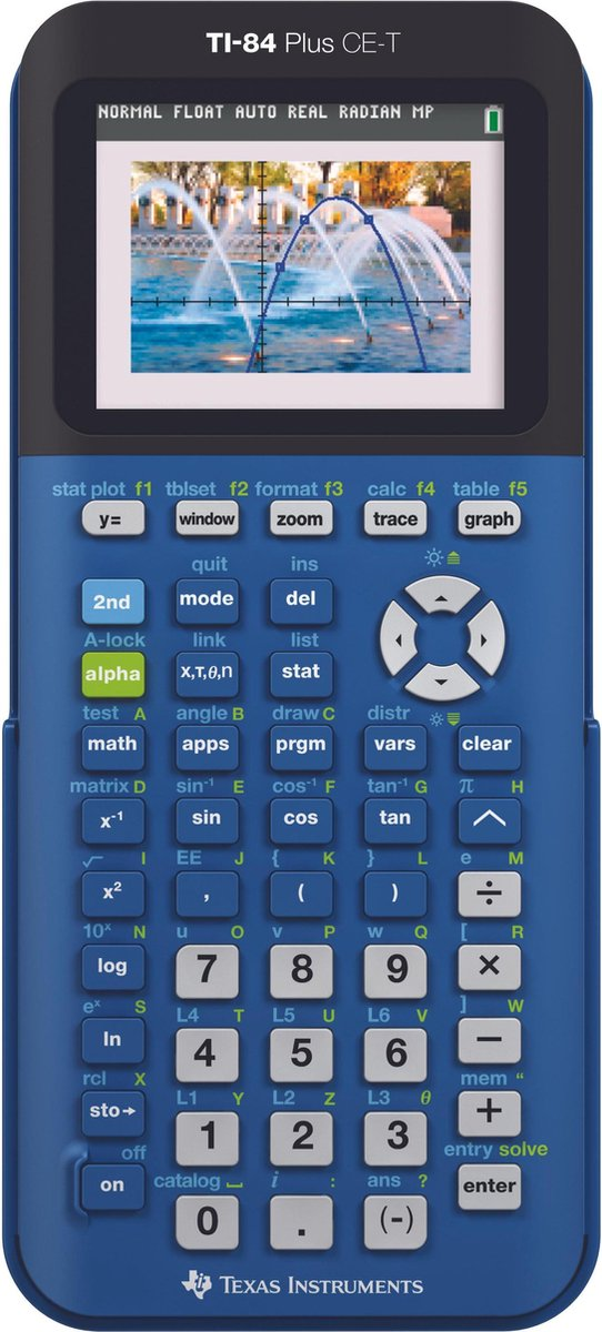 Texas Instruments TI-84 Plus CE-T - Kleurenscherm / Blauw