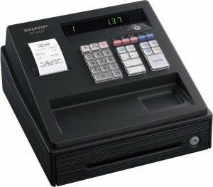 Winkel kassa en horeca kassa - Sharp XE-A137B - compact en eenvoudig - zwart - 1 stuk